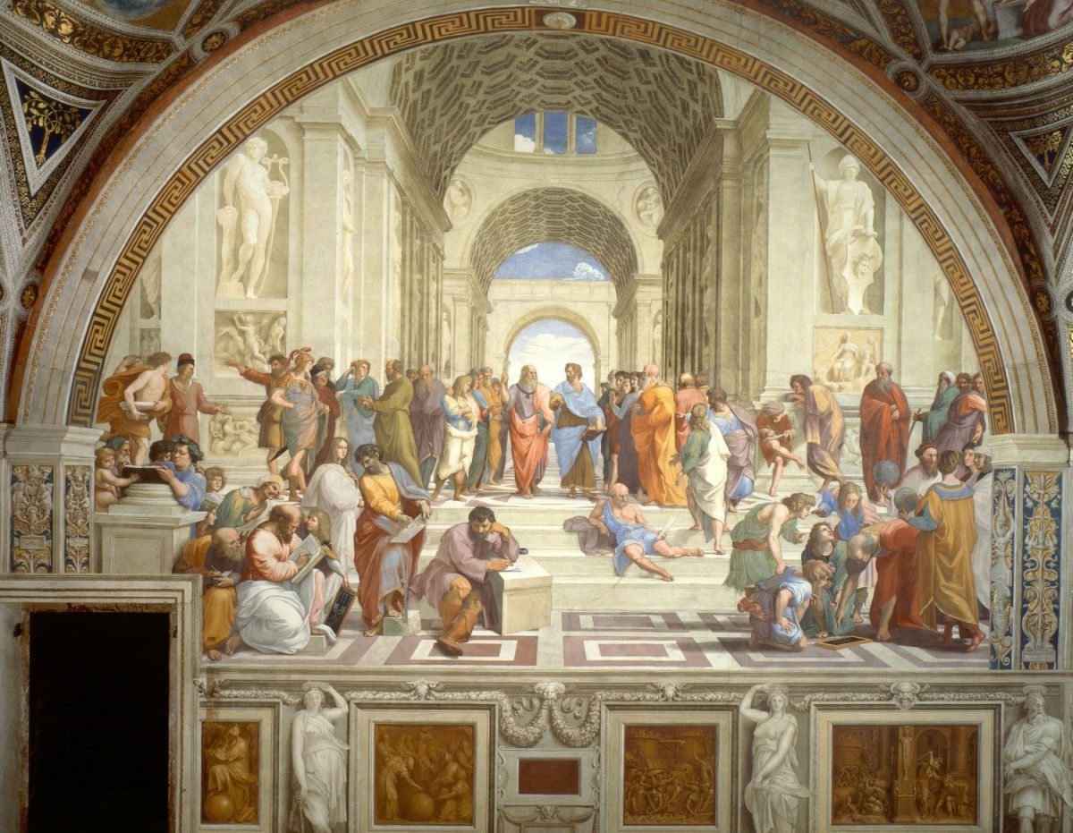 famous painting frescoes by raphael