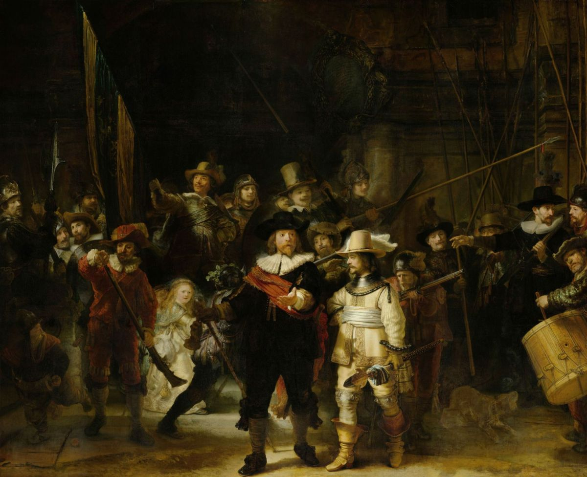 famous painting nights watch by rembrandt
