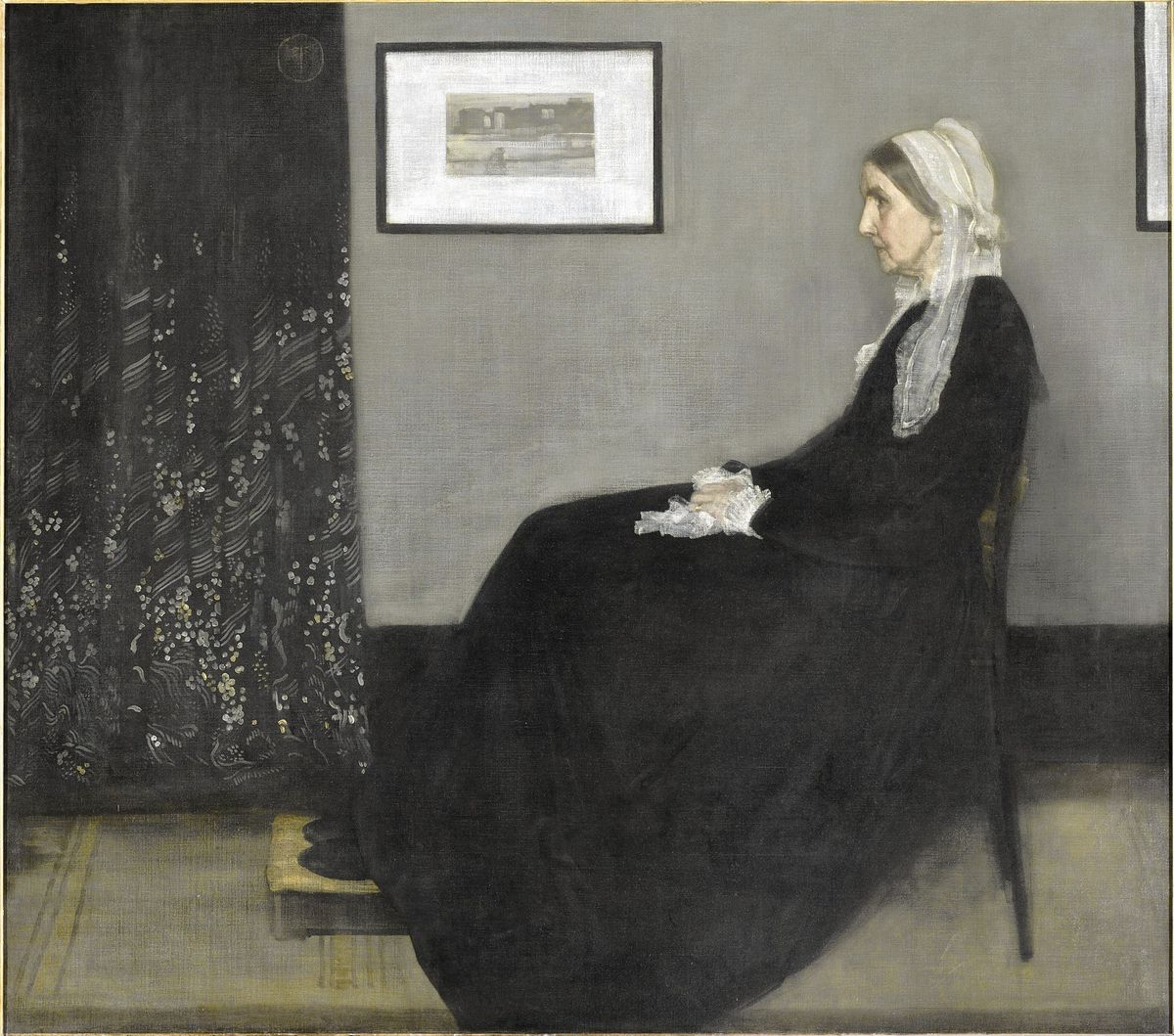 famous painting whister mother by james mcneil whistler