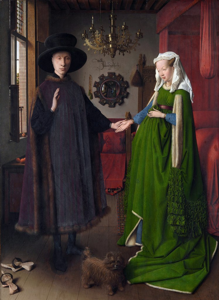 famous painting arnolfini portrait by jan van eyck