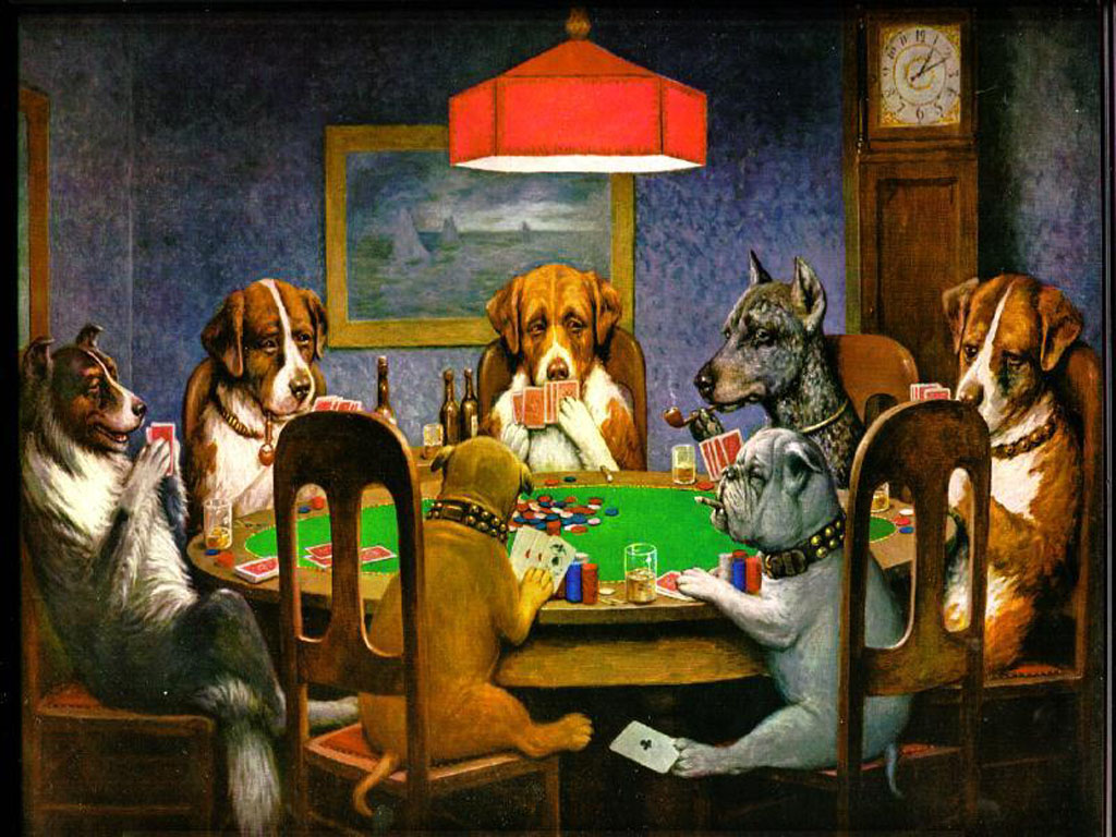 famous painting dogs playing poker by c m coolidge