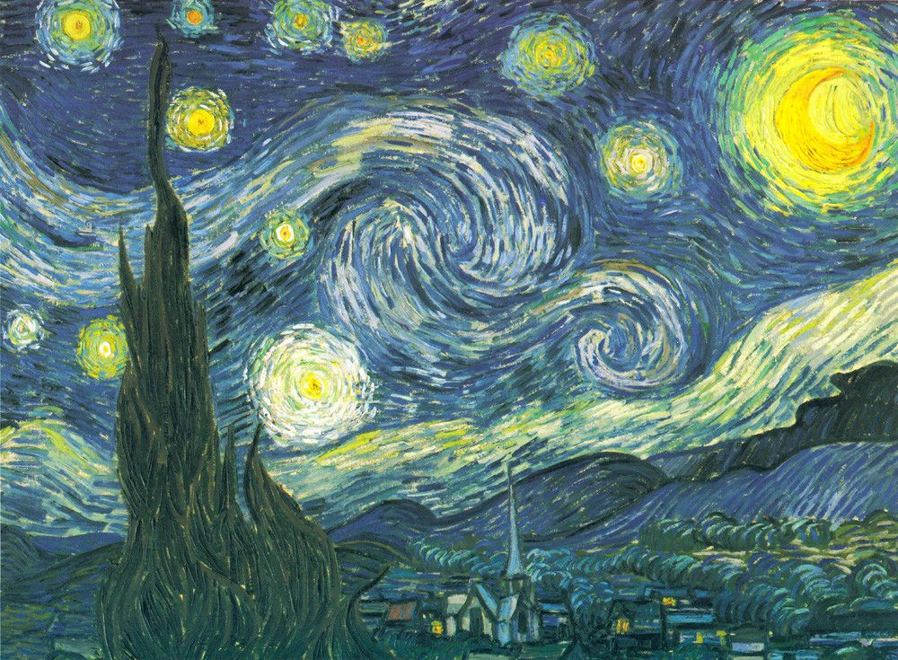 famous painting starry night by vincent van gogh
