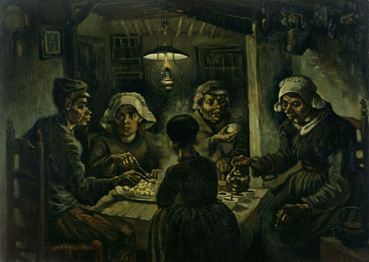 famous painting potato eaters by vincent van gogh
