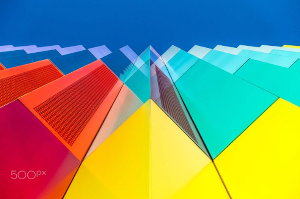 colourful building abstract photography by juergen