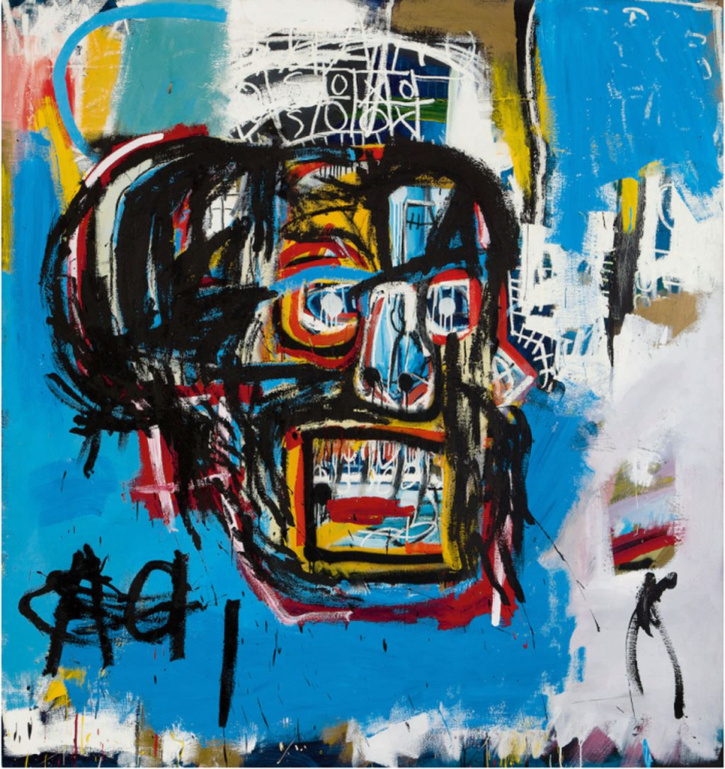 1 expensive untitled artwork exhibited at paris by jean michel basquiat