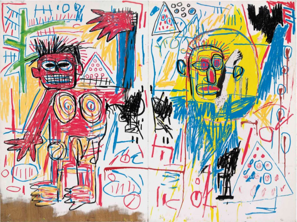 10 expensive jean michel painting untitled diptych